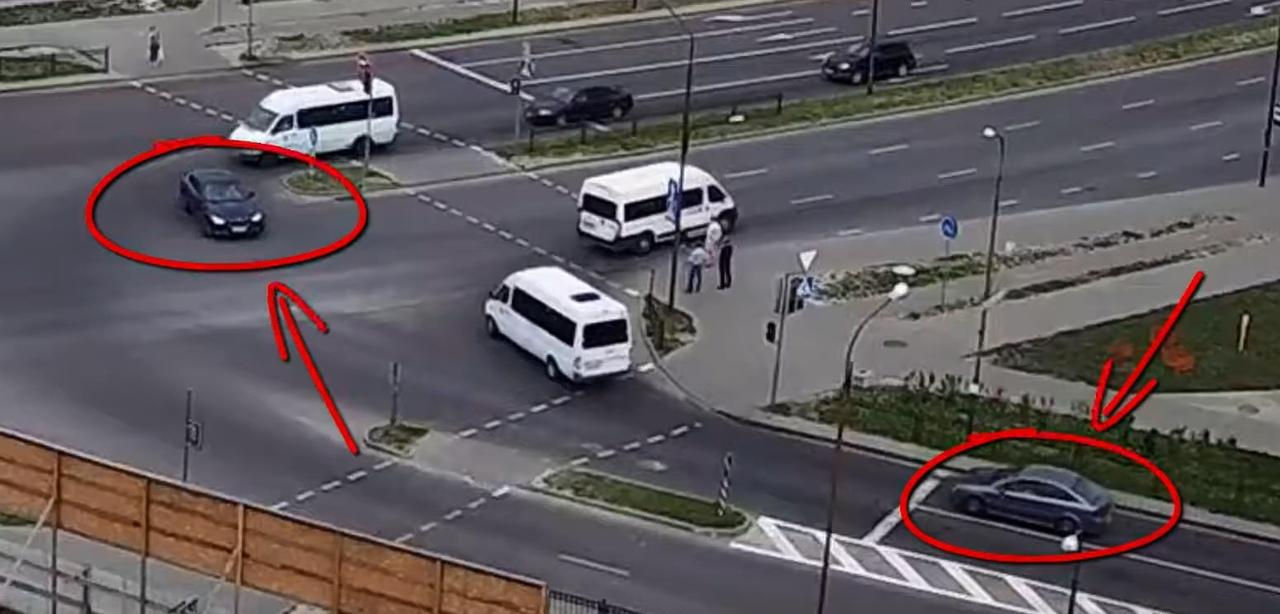 Конфликт водителей на перекрёстке Сальникова-Махновича (всё из-за стрелки)