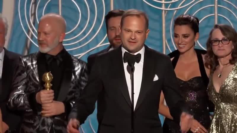 Победная речь команды 2 сезона Американской Истории Преступлений на Золотом Глобусе