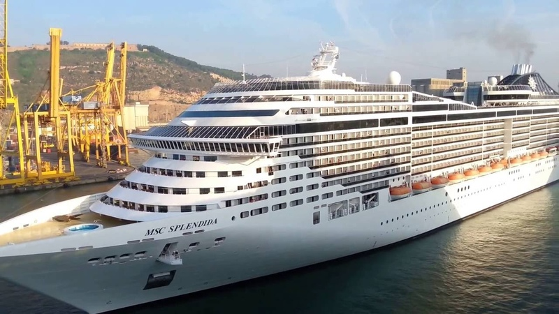 Msc Splendida in Barcellona a marcia INDIETRO, PAZZESCO! S5 HD