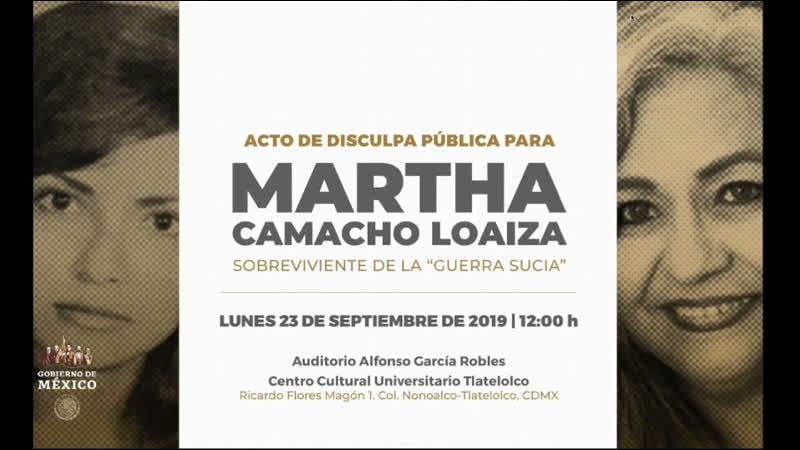  🇲🇽 Disculpa pública a Martha Camacho Loaiza, ex militante de la Liga Comunista 23 de septiembre...