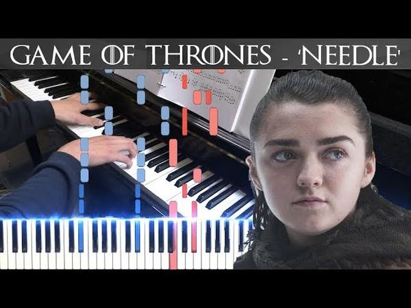 GoT: 'Needle' - Arya's Theme (Piano Cover/Synthesia Tutorial) FREE SHEETS/MIDI