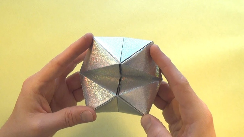 Cootie Catcher Flexahedron origami tutorial