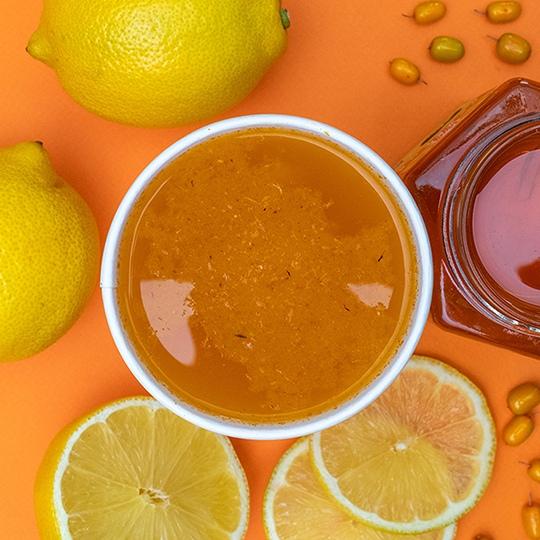 Авторские чаи: Облепиховый чай с лимоном и медом