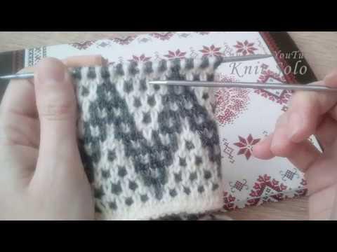 Ленивый жаккард, узор ЗИГ-ЗАГИ. ВЯЗАНИЕ спицами. Knit Solo