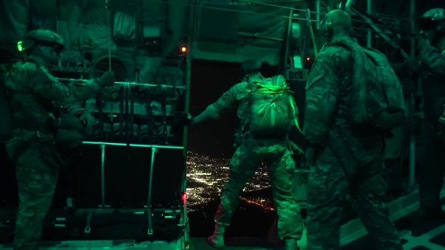 Air Force Special Operations Night Jump – Static HALO Jumps Out Of C-130H(UNAVERAGE GANG - WELCOME TO HELL Viljam Raugalas) c