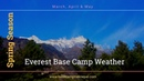 Spring season Nepal Everest base camp weather March, April May