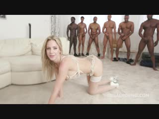 Natalie cherie (7on1 bbc for natalie with dap, balls deep anal, gapes, messy cumshot with swallow gio888)[2018, gangbang, 720p]