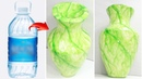 Flower vase style Green marble making with plastic bottle