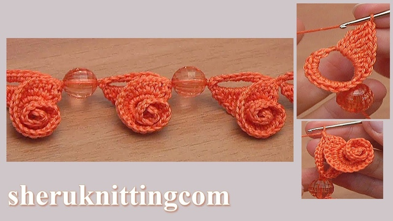 Crochet with Beads Tutorial 119 Crochet Spiral Cord