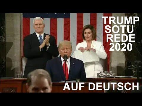 Präsident Trump hält die Rede zur Lage der Nation (SOTU 2020) komplett auf deutsch