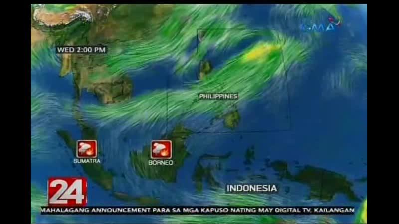 2019 24 Oras PAGASA Umabot na sa ilang bahagi ng Pilipinas ang haze mula sa forest fire sa Indonesia - GMA News 19 sept (1)