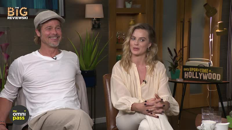 Интервью Брэда Питта и Марго Робби для The Big Reviewski's