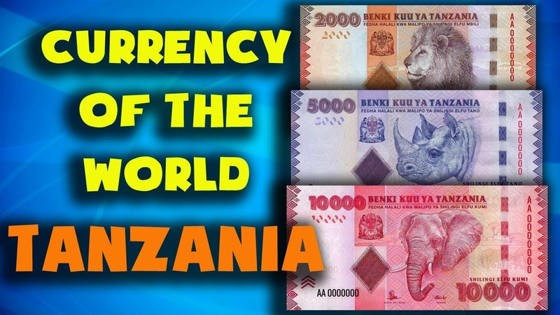 Currency of the world Tanzania Tanzanian shilling Exchange rates banknotes