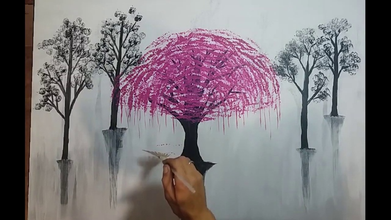 Abstract painting tree