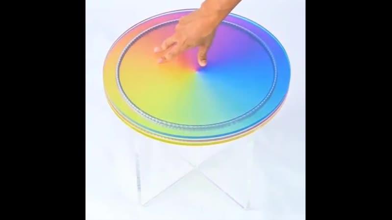 Side Table | Subtractive Variability by Felipe Pantone