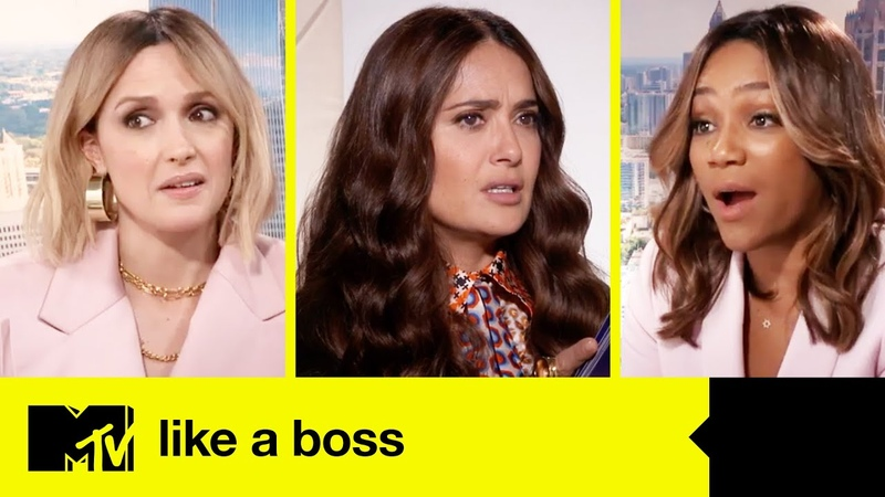 Salma Hayek Tiffany Haddish The 'Like A Boss' Cast Play 'Guess The Thirst Tweet' MTV MOVIES