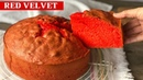 Bizcocho red velvet de yogur MUY ESPONJOSO sin pesar ingredientes