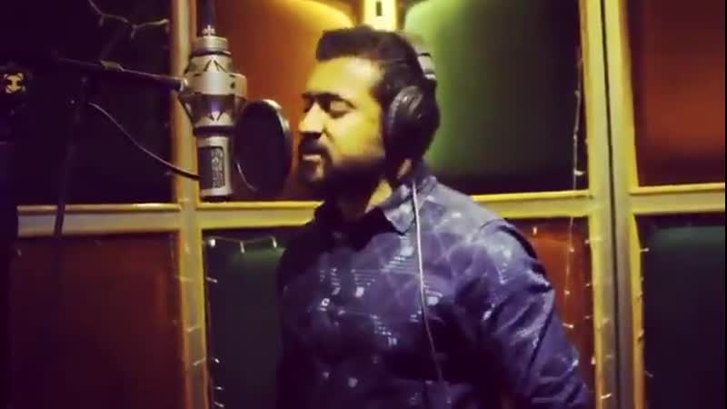 Heres a glimpse of Suriya singing for MaaraTheme from Soorarai Pottru