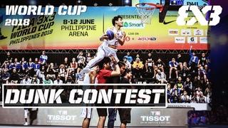 Re-Live: David Carlos v Smoove v Miller v Guy Dupuy | Dunk Contest - FIBA 3x3 World Cup 2018 Manila