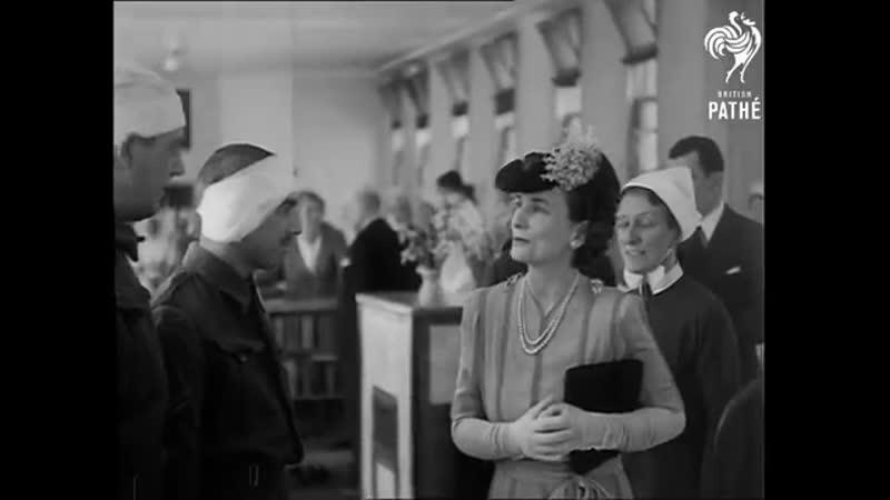 Duchess Of Gloucester Visits Hospital (1941)