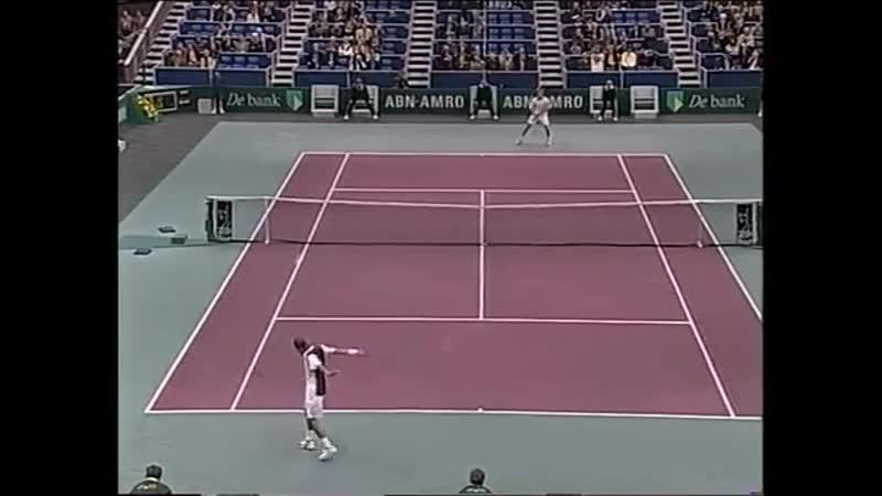 Rotterdam Open 1999 Quaterfinal Kafelnikov Rus Federer Swi