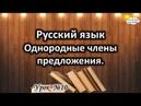 Русский язык Урок №10 Тема Однородные члены предложения