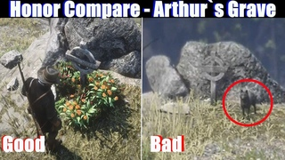 RDR2 Low Honor vs High Honor Grave of Arthur Morgan - Red Dead Redemption PS4 Pro