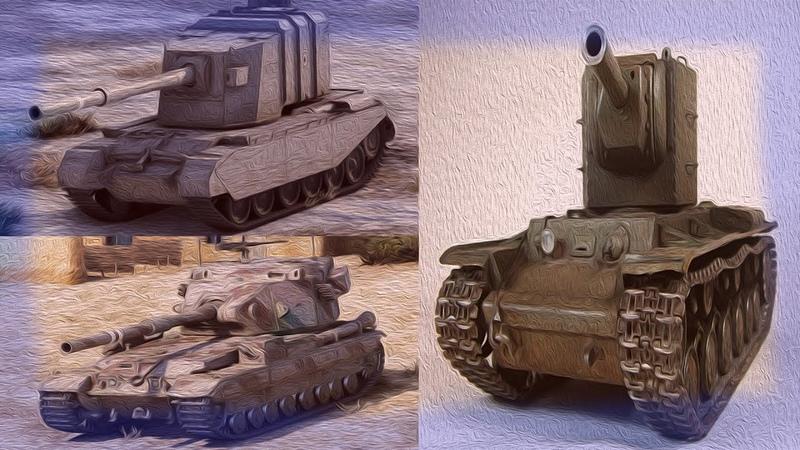 Битва фотиков в WOT! КВ-2 FV215v 183 и FV4005!