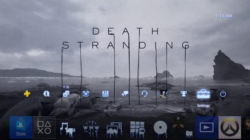 Death Stranding Character Vignette Dynamic Theme PS4