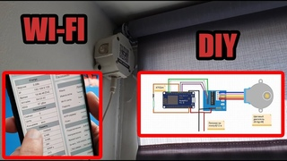 Автоматические рулонные wi fi шторы Lazzy rolls на esp8266 DIY сделай сам