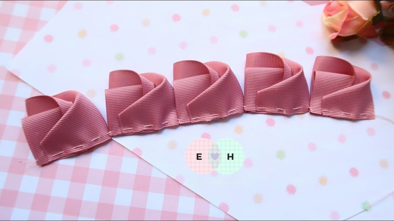 Amazing Ribbon Flower Hand Embroidery Works Ribbon Tricks Easy Making Tutorial 8