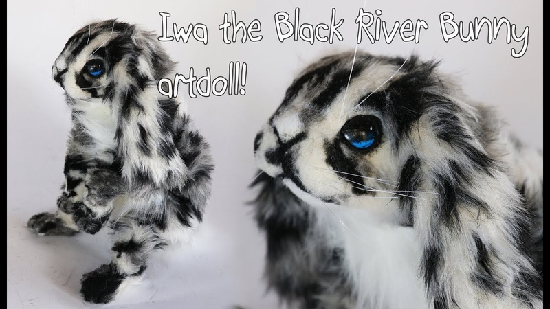 Iwa the Black River Bunny Artdoll!