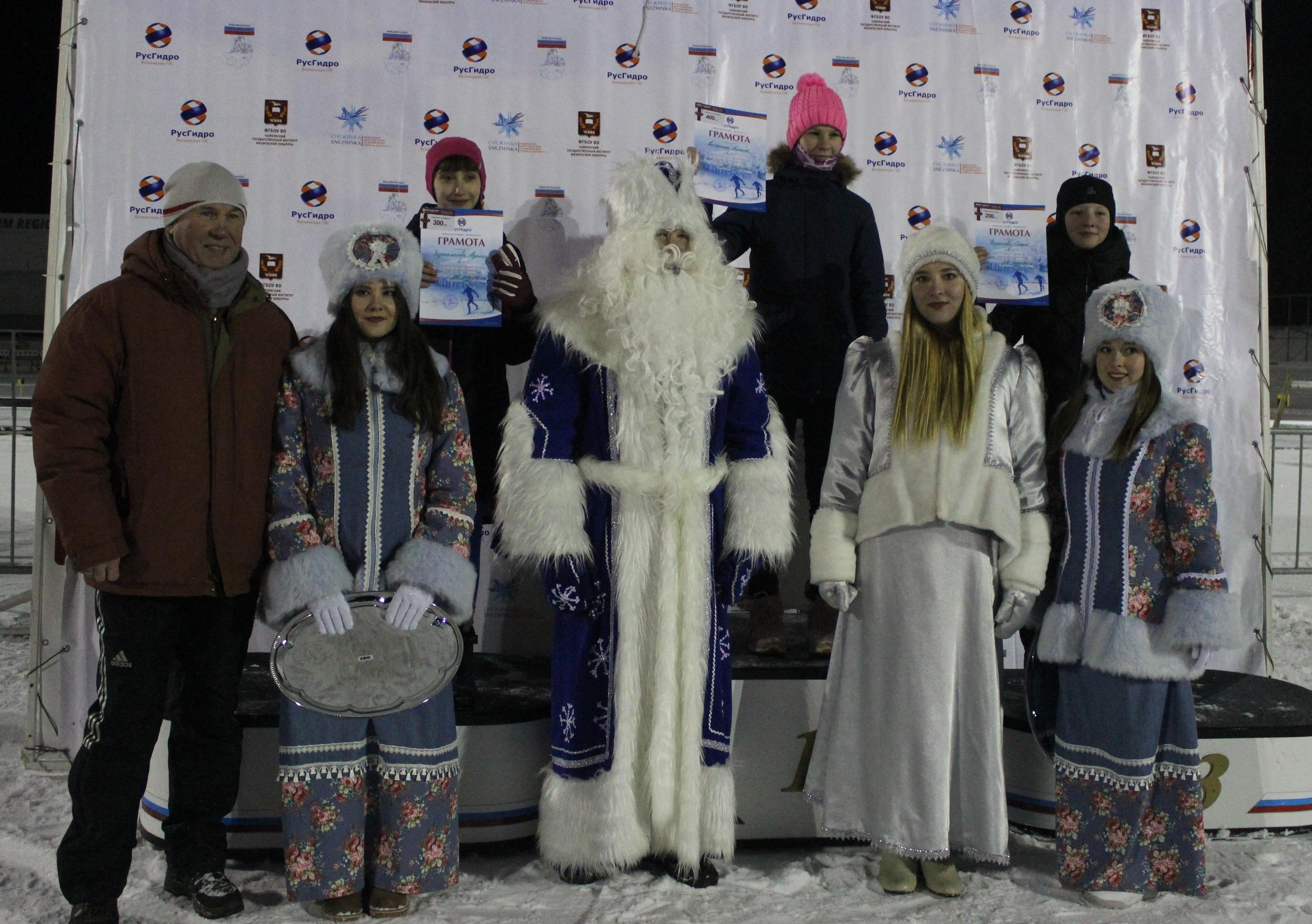 рождественская лыжная гонка, чайковский район, 2019 год
