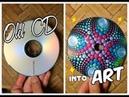 Recycling CD into ART Dot Mandala Painting Suncatcher How To Paint Dot Mandalas Lydia May