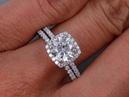1.30 ctw Engagement Ring and Wedding Band Set - BigDiamondsUSA