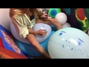 Hott Girl ASMR TWO 36 Balloons Drawing Rubbing Squinking Popping Balloon Chair 4K