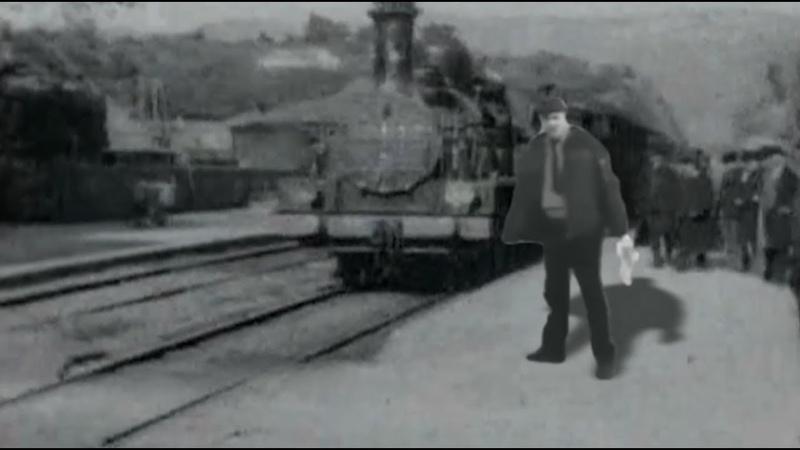 Прибытие поезда на вокзал РЖД, 1895 год