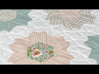 Пэчворк для начинающих и продвинутых. Шаблоны, линейки, ткани, лапка для стежки. Стеганый цветочек.
