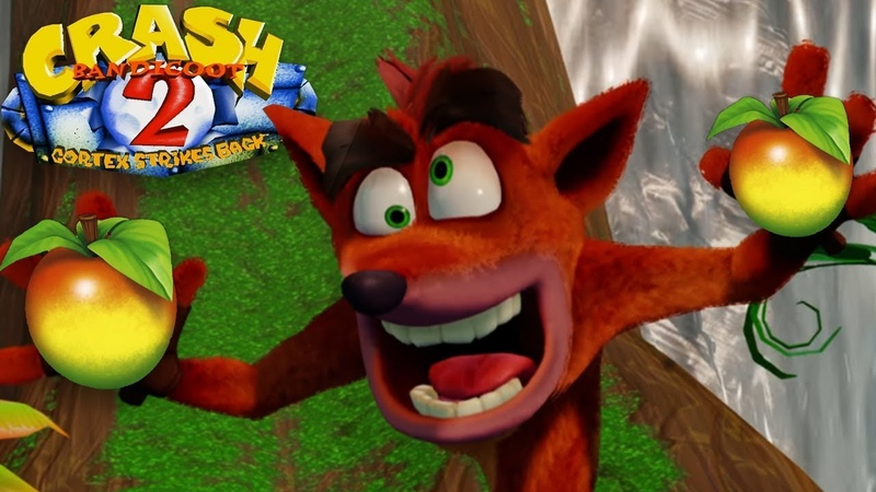 Who can collect the most apples in Crash Bandicoot 2 Cortex Strikes Back