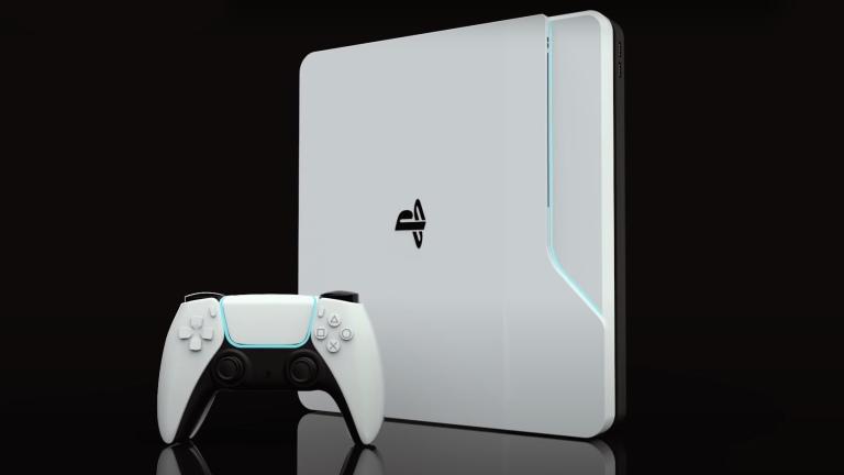 Концепт-арт консоли Sony PlayStation 5 и геймпада DualSense