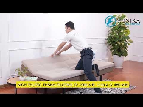 Sofa bed M08 tiện ích với 02 chiều lật thư giãn phù hợp với nhiều không gian sống
