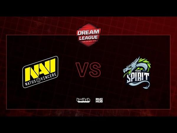 Natus Vincere vs Team Spirit, DreamLeague S13 QL, bo3, game 1 [CrystalMay Smile]