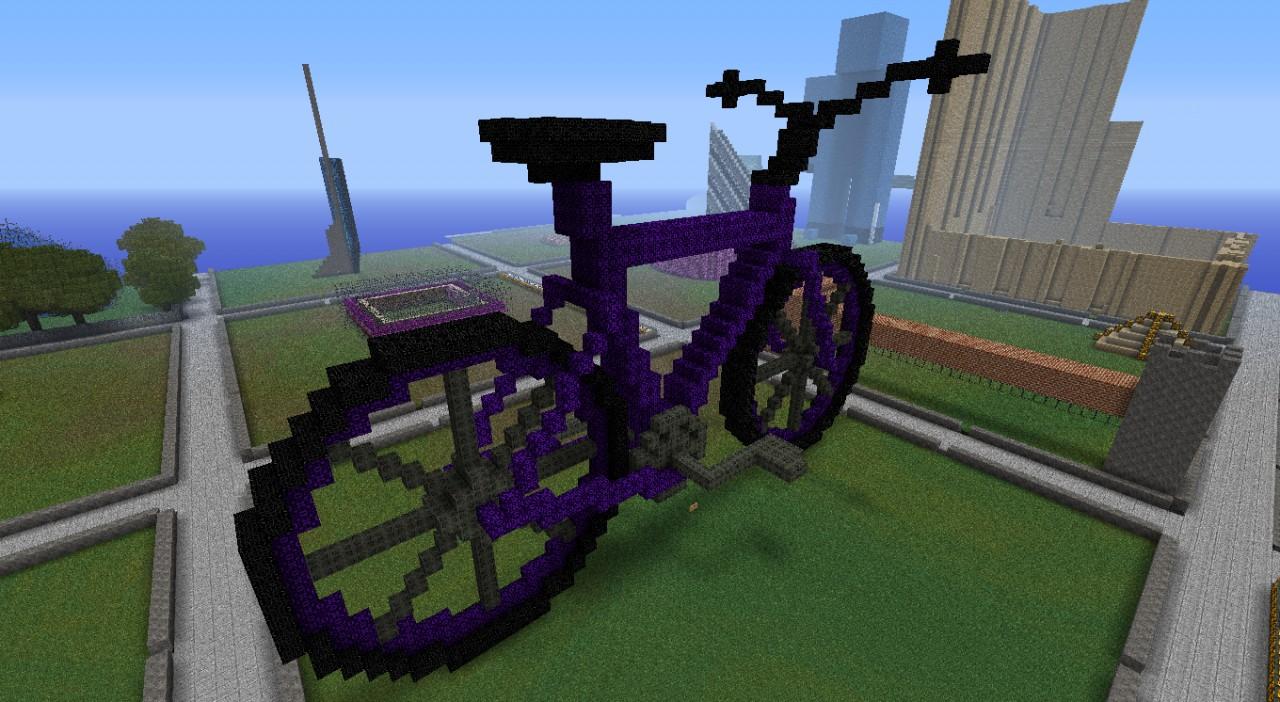 велосипед в майнкрафт #1