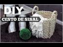 DIY CESTO COM CORDA DE SISAL LETICA ARTES