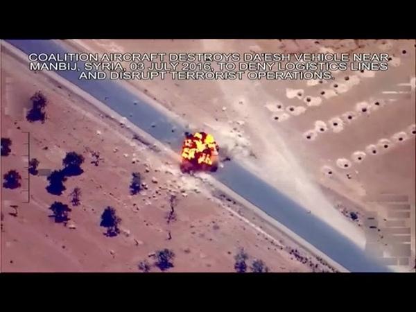 Estados Unidos difundió un video que muestra ataques contra EI en Siria e Irak