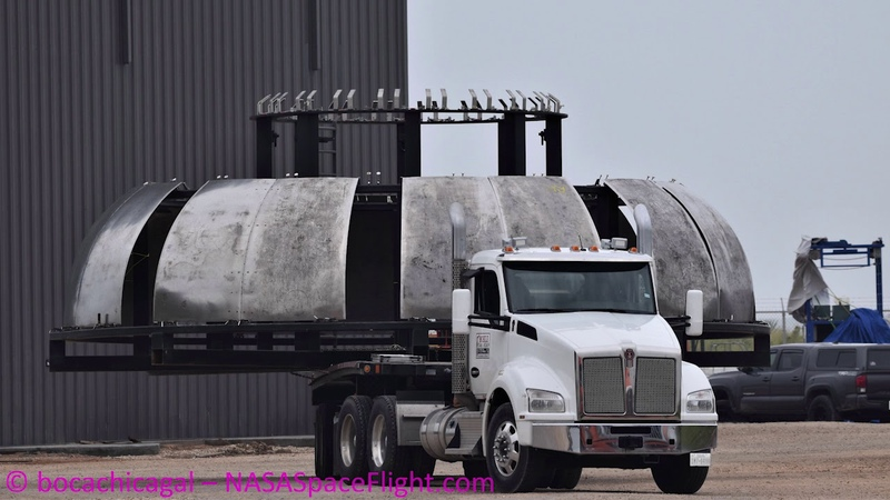 SpaceX Starship Mk3 - Bulkhead heading for assembly/ongoing launch site work - November 29, 2019