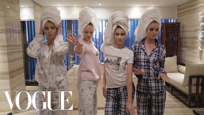 Adriana Lima's Victoria's Secret Sleepover | Vogue