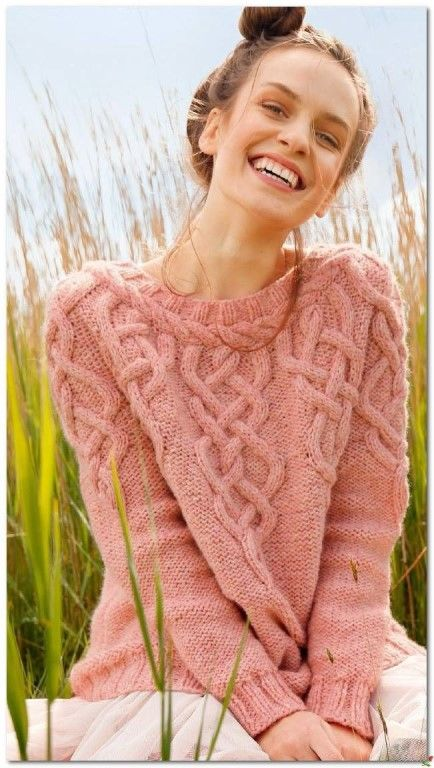 Теплый пуловер со жгутами. Хорош для осенней прохлады!