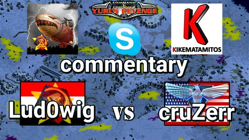 Lud0wig vs cruZer 1v1 on Caverns commentaries by Kikematamitos Zhasulan Red Alert 2 Yuri's Revenge