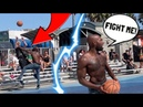 Trash Talker Tried To Fight Me 5v5 Basketball At Venice Beach